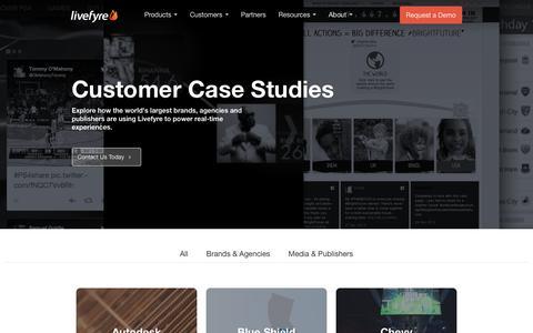 Screenshot of Case Studies Page livefyre.com - Customer Case Studies - Livefyre - captured March 29, 2016