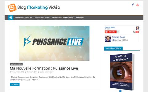 Screenshot of Home Page blog-marketing-video.fr - blog-marketing-video.fr | marketing vidéo et référencement - captured July 3, 2018