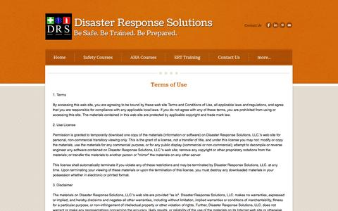 Screenshot of Terms Page drstraining.com - Privacy Practices - Disaster Response Solutions - captured Oct. 5, 2014