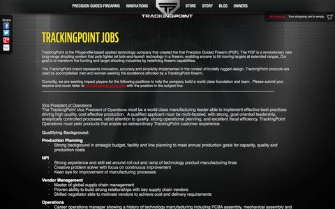 Screenshot of Jobs Page tracking-point.com - TrackingPoint Jobs | TrackingPoint - captured Sept. 17, 2014