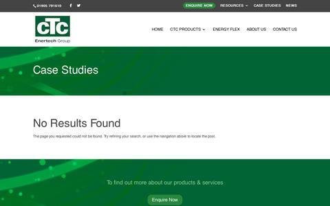 Screenshot of Case Studies Page ctc-uk.com - Case Studies - CTC-UK - captured July 15, 2018