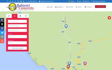 Screenshot of Home Page balnearicamerota.it - Associazione Stabilimenti Balneari - Marina di Camerota - captured May 31, 2016