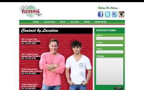 Screenshot of FAQ Page mulberrypizzeria.com - CONTACTS  |  Mulberry Street Pizzeria - captured Oct. 31, 2014