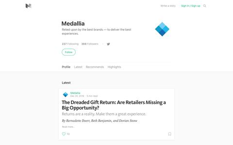 Medallia – Medium