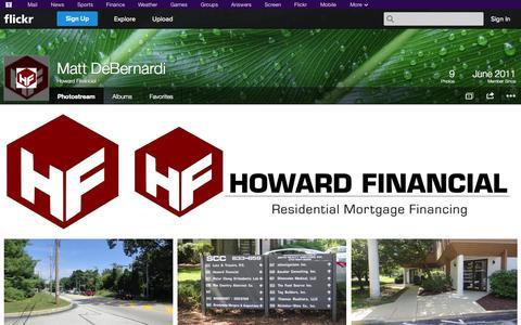 Screenshot of Flickr Page flickr.com - Flickr: Howard Financial's Photostream - captured Oct. 23, 2014