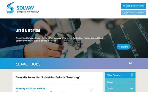 Screenshot of Jobs Page solvay.com - Industrial Jobs in Bernburg at Solvay   Careers at Solvay - captured Dec. 29, 2017
