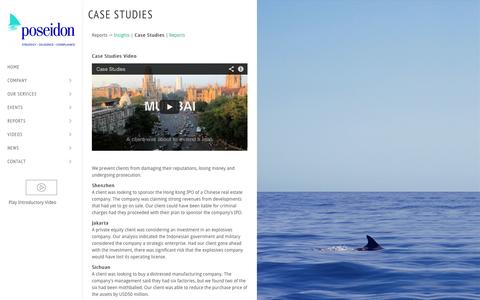 Screenshot of Case Studies Page poseidongroup.io - Case Studies | Poseidon Research - captured Oct. 22, 2014