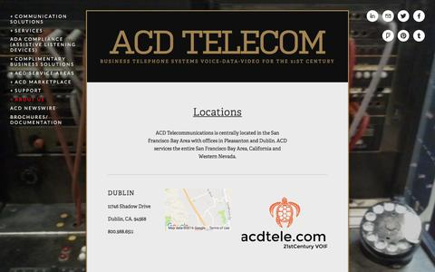 Screenshot of Locations Page acdtele.com - Locations — ACD Telecom - captured Oct. 15, 2016