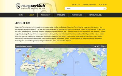 Screenshot of About Page magswitch.com.au - About Us - Magswitch - captured Oct. 4, 2014