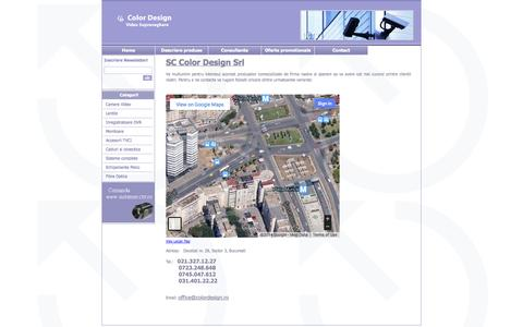 Screenshot of Contact Page colordesign.ro - Contact supraveghere video - captured Oct. 3, 2014