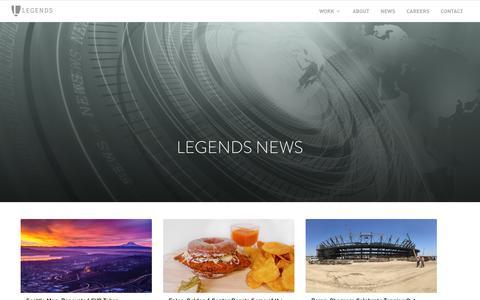 Screenshot of Press Page legends.net - News - captured July 18, 2018