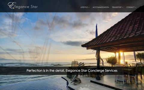 Screenshot of Home Page elegancestar.co.uk - Lifestyle Management, Private Jets, Luxury Yachts | Elegance Star Concierge Services - captured Dec. 12, 2015