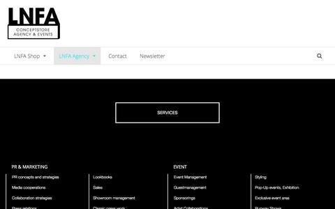 Screenshot of Services Page lnfa-shop.de - Services | LNFA Shop - captured Jan. 26, 2017