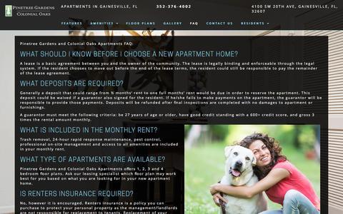 Screenshot of FAQ Page pinetreegardens.com - FAQ - Pinetree Gardens - captured Nov. 6, 2016