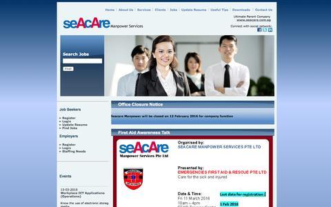 Screenshot of seacaremanpower.com - Seacare Manpower Services - captured Feb. 4, 2016