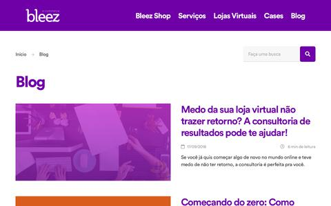 Screenshot of Blog bleez.com.br - Blog | Bleez E-commerce - captured Oct. 25, 2018