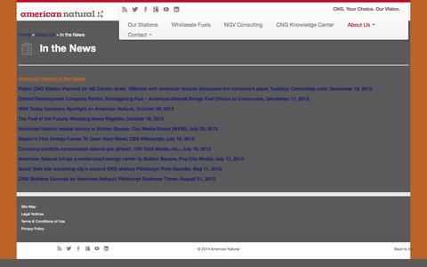 Screenshot of Press Page americannatural.com - American Natural: In the News | American Natural - captured Sept. 30, 2014
