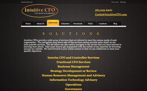 Screenshot of Services Page intuitivecfo.com - Services - Intuitive CFO - captured Aug. 6, 2016
