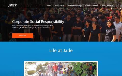 Screenshot of Jobs Page jadeglobal.com - Careers Jade Global - captured Aug. 12, 2019