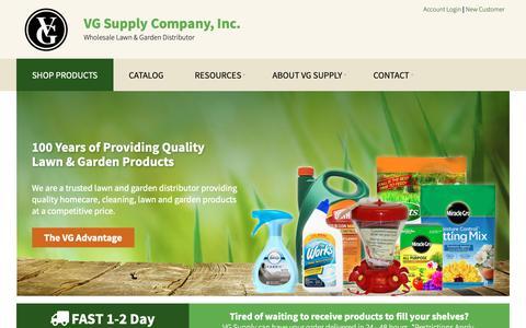 Screenshot of Home Page vgsupply.com - VG Supply Company - VG Supply Company Inc - Wholesale Lawn & Garden Distributor - captured Dec. 20, 2018