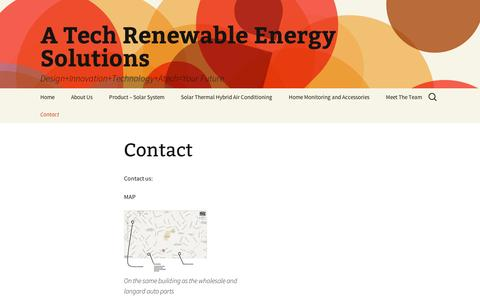 Screenshot of Contact Page wordpress.com - Contact   A Tech Renewable Energy Solutions - captured Sept. 12, 2014