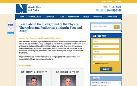 Screenshot of Team Page martinfootandankle.com - Biographies for our Podiatrists | Martin Foot & Ankle - captured Sept. 20, 2018