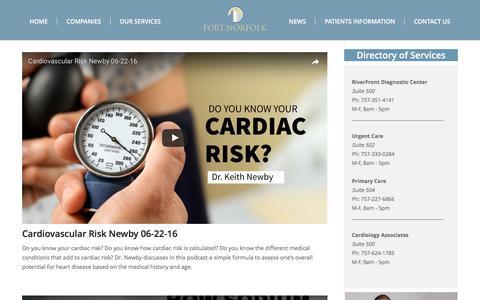 Screenshot of Press Page fortnorfolkmedical.com - News - Fort Norfolk Medical Associates - captured June 6, 2017