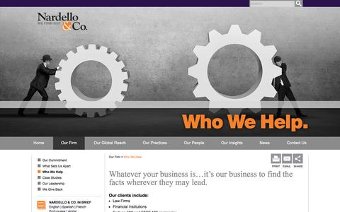 Who We Help - Nardello & Co.