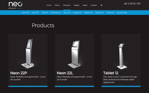 Screenshot of Products Page neoproductsgroup.com - Products Archive - Neo Products - captured Oct. 26, 2017
