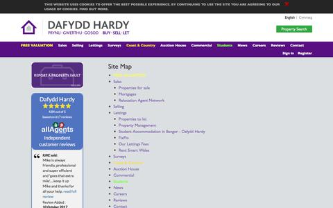 Screenshot of Site Map Page dafyddhardy.co.uk - Site Map - captured Oct. 12, 2017