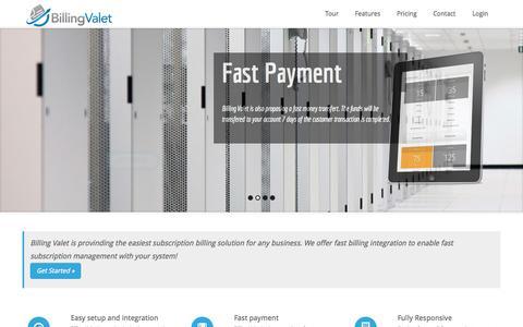 Screenshot of Home Page billingvalet.com - Billing Valet | Subscription billing made easy - captured Jan. 26, 2015