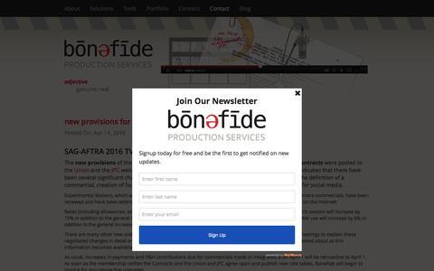 Screenshot of Blog bonefide.com - Bonefide  Blog   Bonefide - captured Nov. 23, 2016