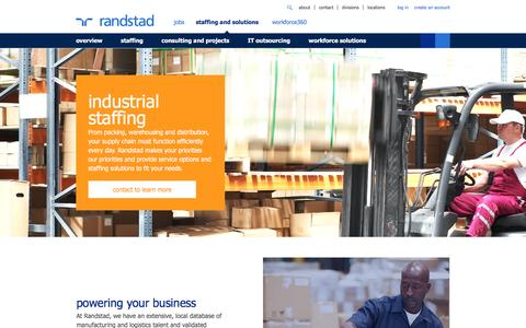 Industrial Staffing & Recruiting Solutions | Randstad USA