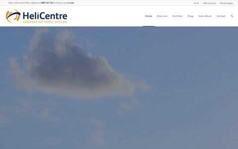 Screenshot of Home Page helicentre.nl - Helikoptervlucht maken? Helicentre Helikoptervluchten - captured Sept. 29, 2014