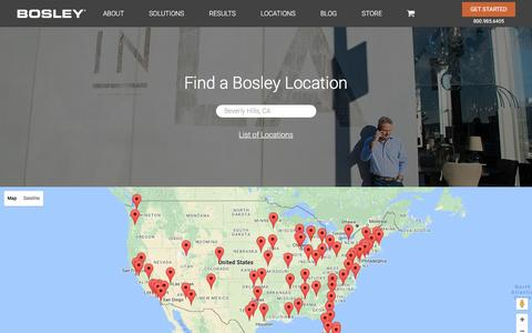 Screenshot of Locations Page bosley.com - Locations : Bosley - captured July 30, 2016