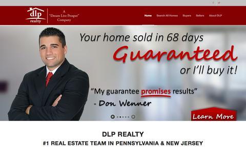 Screenshot of Home Page dlprealty.com - DLP Realty: #1 Real Estate Team in PA & NJ - captured Nov. 24, 2015