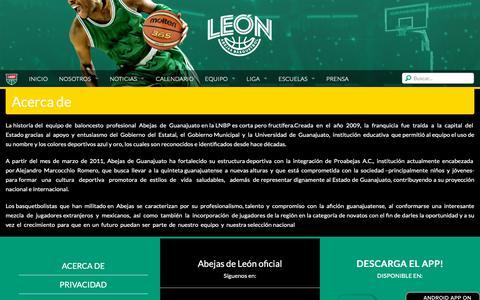 Screenshot of About Page lnbp.mx - Abejas de León - captured Oct. 25, 2018