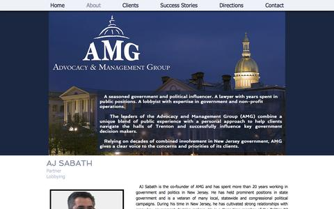 Screenshot of About Page amg101.com - About Advocacy & Management Group - captured Nov. 20, 2016
