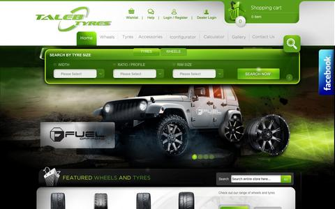 Screenshot of Home Page talebtyres.com.au - Wheels And Tyres | Offroad Wheels | 4x4 Rims, Wheels & Tyres - captured Dec. 3, 2016