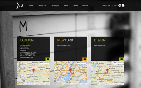 Screenshot of Contact Page m-is.com - M-is | Contact - captured Oct. 3, 2014