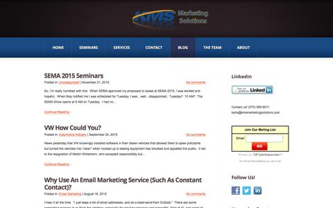 Screenshot of Blog kmsmarketingsolutions.com - Blog | KMS Marketing Solutions - captured Feb. 12, 2016