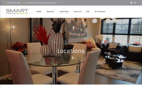 Screenshot of Locations Page smartcorporatehousing.com - National Corporate Housing Locations | Short Term Furnished Apartments - captured Sept. 28, 2018