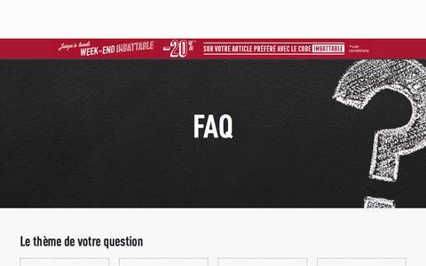 Screenshot of FAQ Page lapeyre.fr - Foire aux questions - captured Sept. 22, 2018