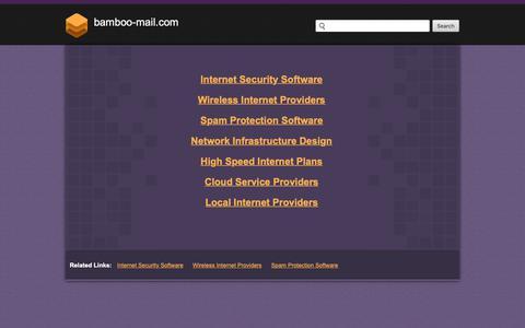 Screenshot of Home Page bamboo-mail.com - Bamboo-mail.com - captured Dec. 9, 2018
