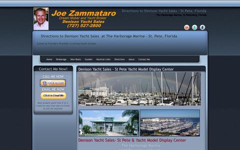 Screenshot of Maps & Directions Page joezam.com - Directions to Joe Zammataro and Massey Yacht Sales - captured Oct. 27, 2014