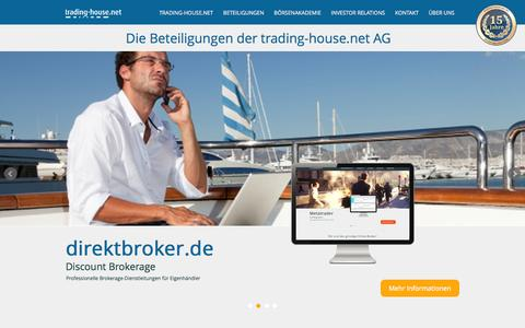Screenshot of Home Page trading-house.net - trading-house.net AG - captured Sept. 24, 2014
