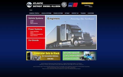 Screenshot of Home Page atlanticdda.com - Atlantic Detroit Diesel-Allison - captured Feb. 13, 2016