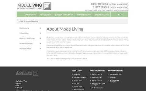 Screenshot of About Page modeliving.co.uk - About Mode Living Mode Living - captured July 6, 2017