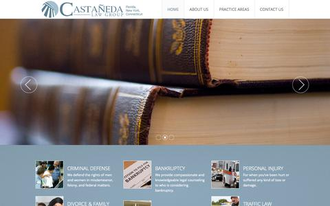 Screenshot of Home Page castanedalawgroup.com - Castaneda Law Group - captured Jan. 26, 2015