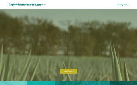 Screenshot of Home Page simposiointernacionaldeagave.com - Simposio Internacional de Agave - captured Sept. 22, 2018